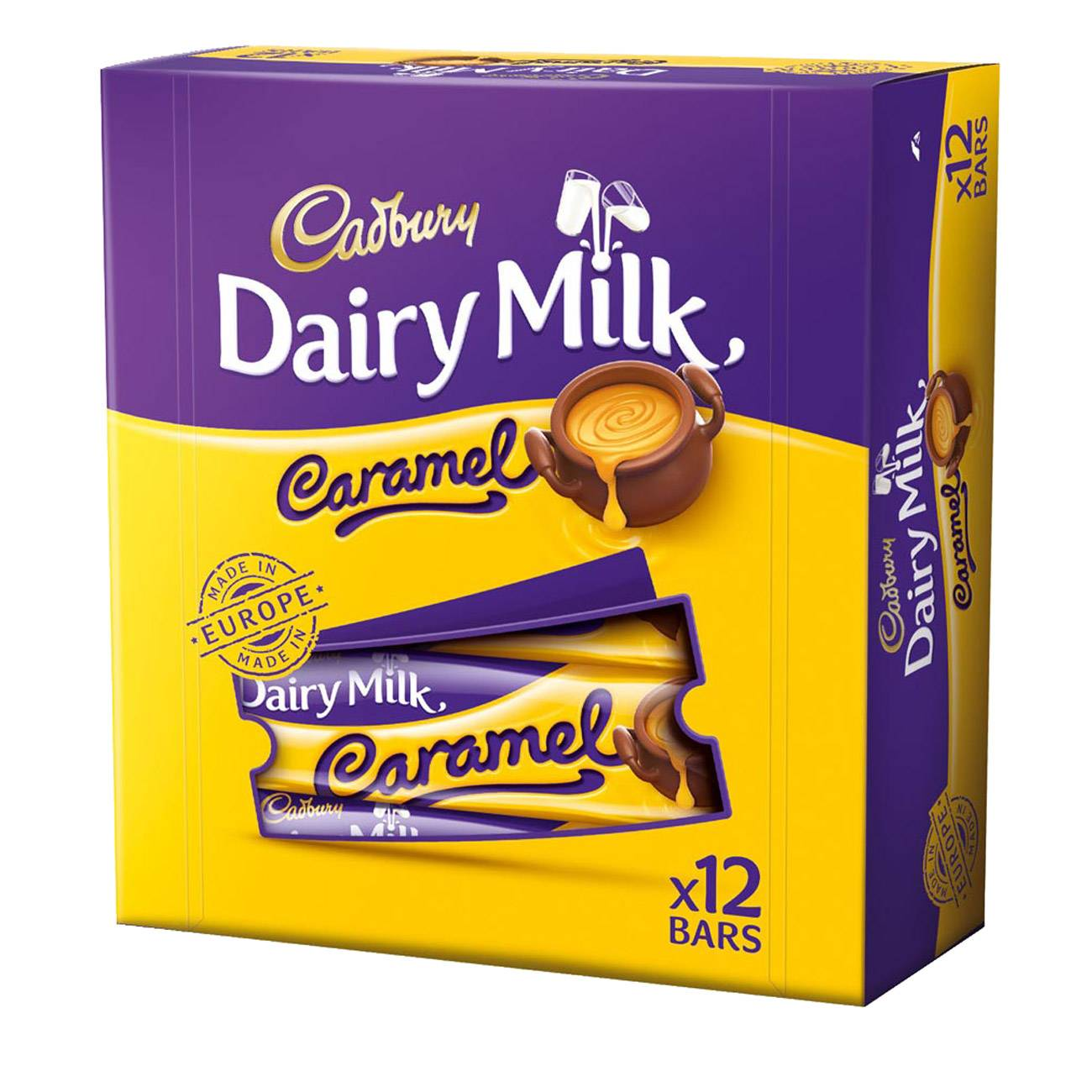 DAIRY MILK CARAMEL BAR BOX 540gr