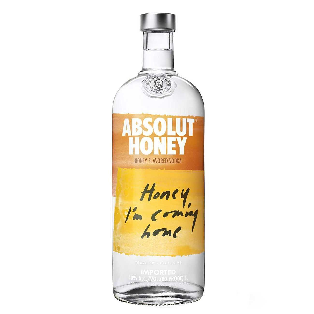 Vodka, HONEY 1000 ML, Absolut