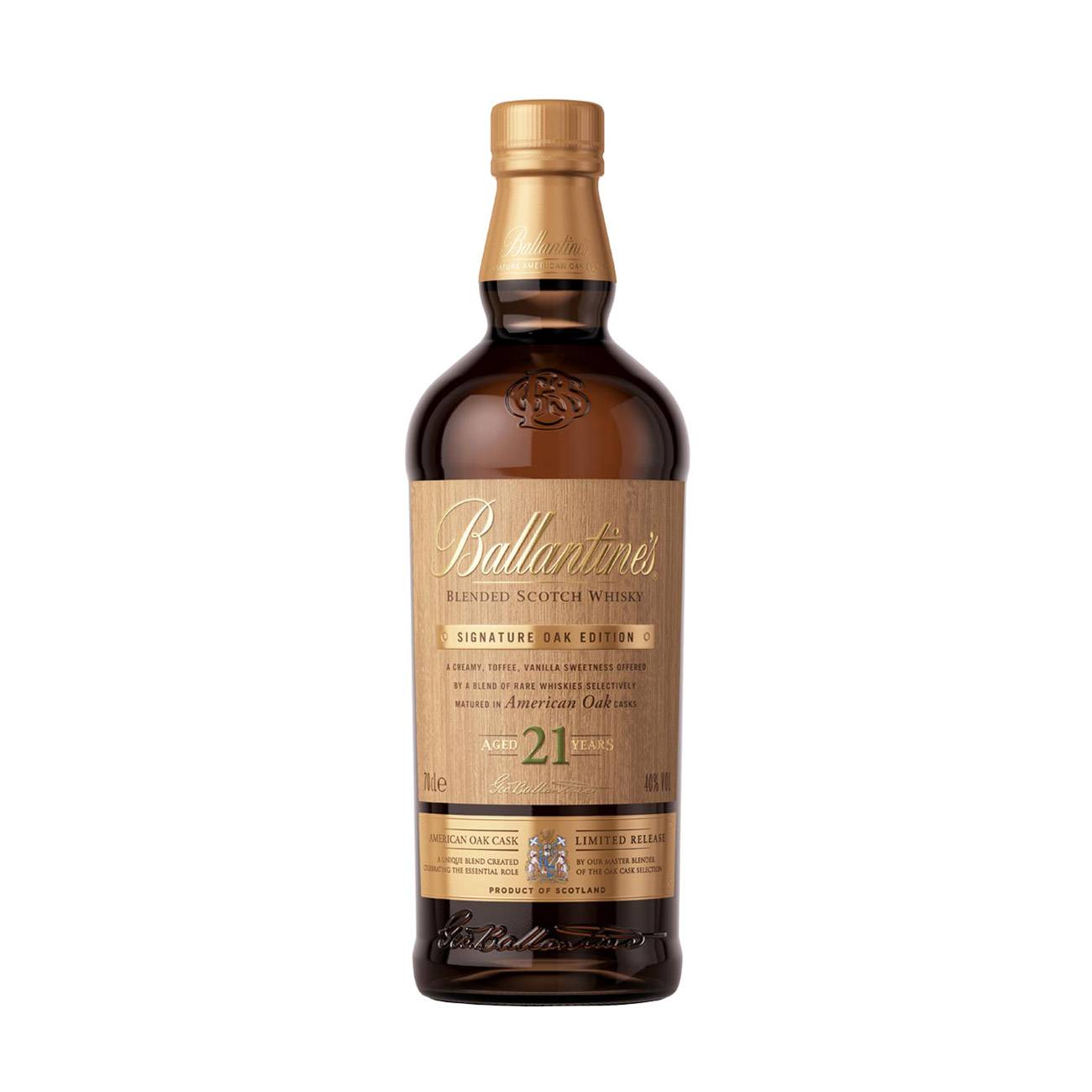 BALLANTINE'S 21Y AMERICAN OAK 700ml