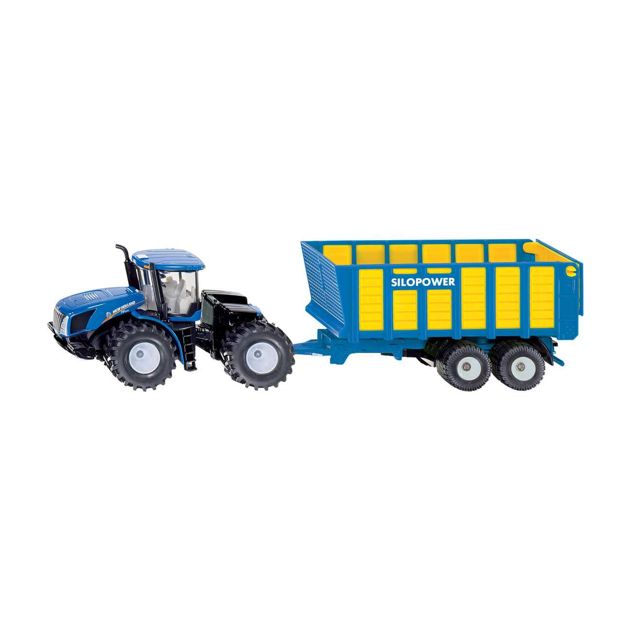 TRACTOR WITH SILAGE TRAILER