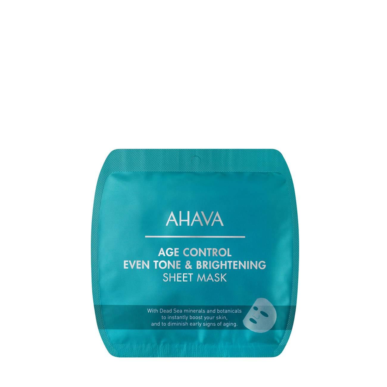 Age Control Even Tone & Brightening Sheet Mask 8 Ml Ahava imagine 2021 bestvalue.eu