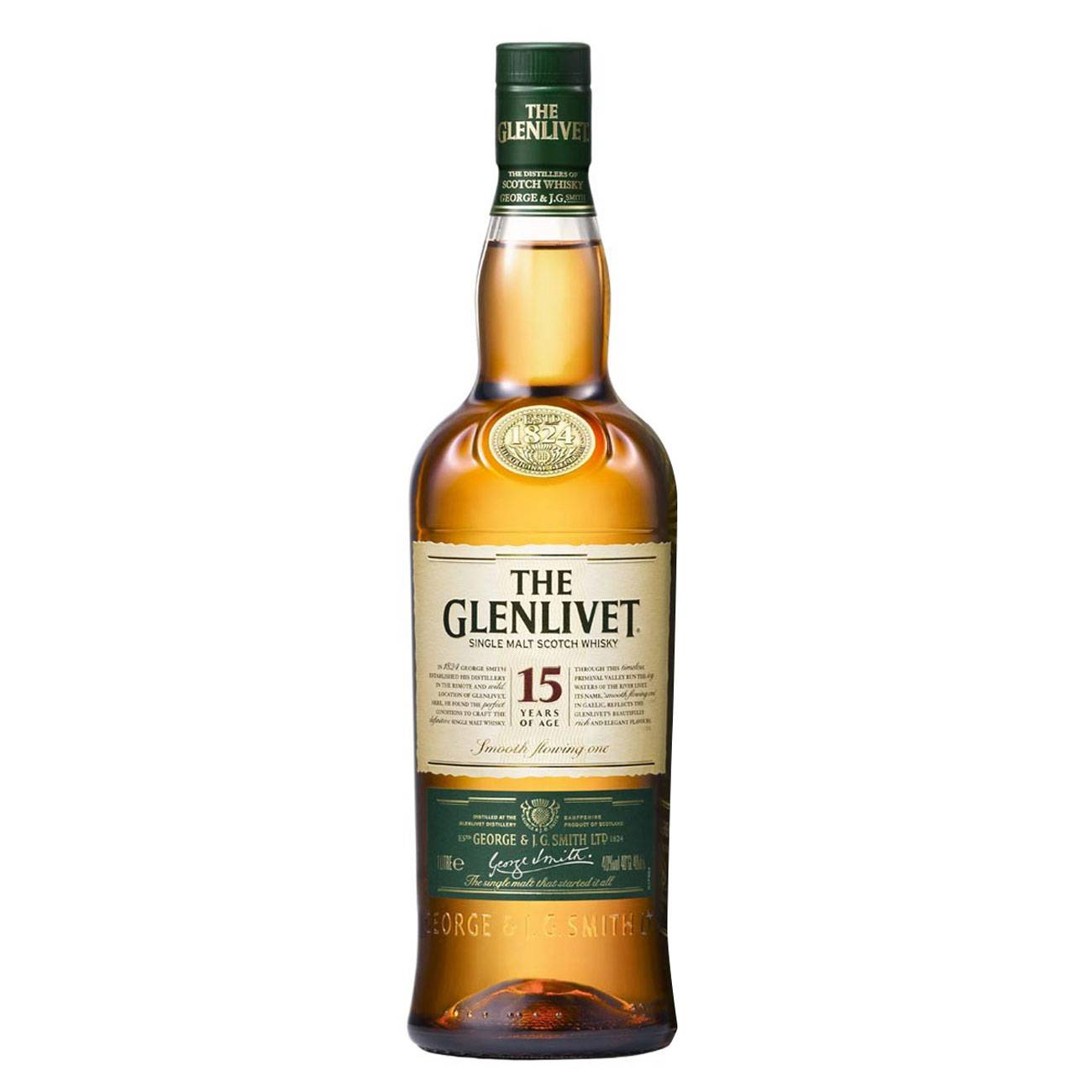 Whisky scotian, 15 YEAR OLD 1000 ML, The Glenlivet