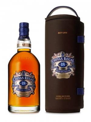 LEATHER SHEATH 18Y OLD SCOTCH WHISKY 40% 1750ml