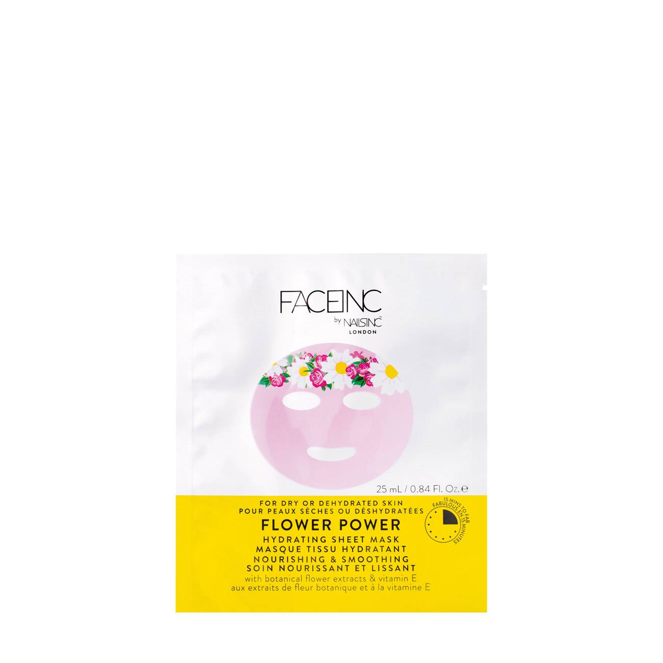 Flower Power Hydrating Sheet Mask-Nourishing And Smoothing 25 Ml FACEINC imagine 2021 bestvalue.eu