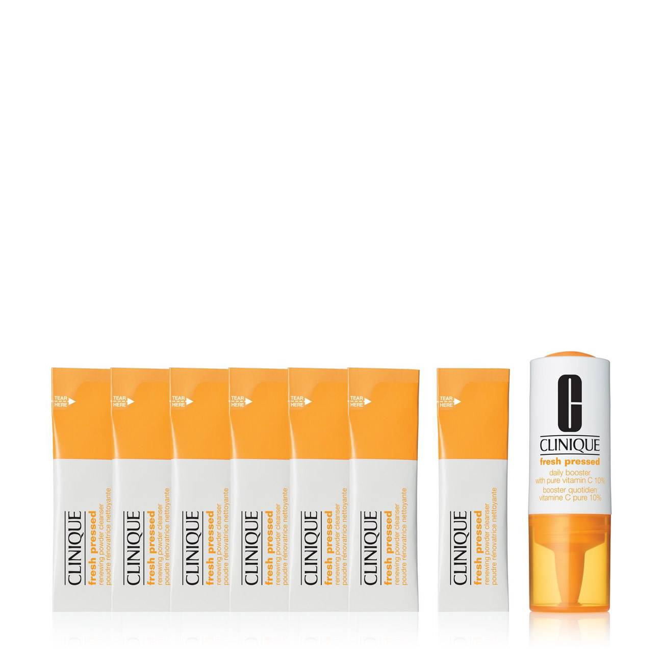 FRESH PRESSED 7 DAY SYSTEM WITH VITAMIN C: DAILY BOOSTER+RENEWAL POWDER CLEANSER 9 Ml