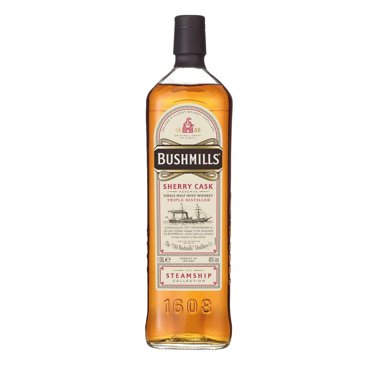 Whisky irlandez, STEAMSHIP SHERRY CASK 1000ml, Bushmills