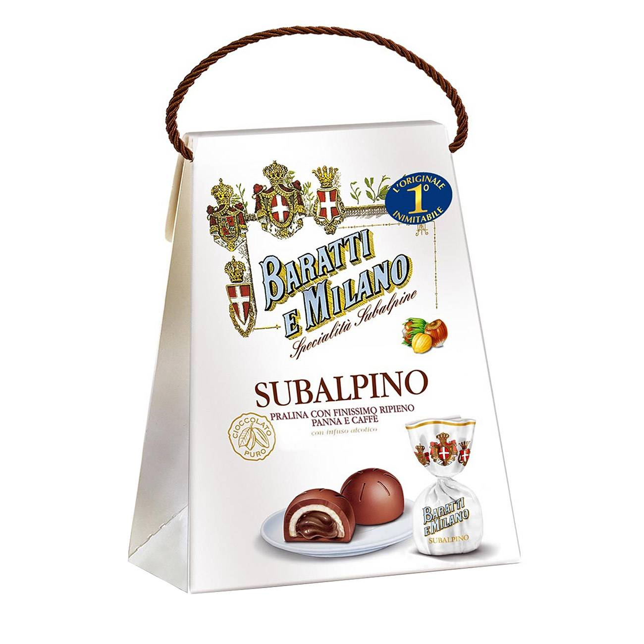 SUBALPINO HAZELNUT MILK CHOCOLATE WITH CREAM 150 Grame