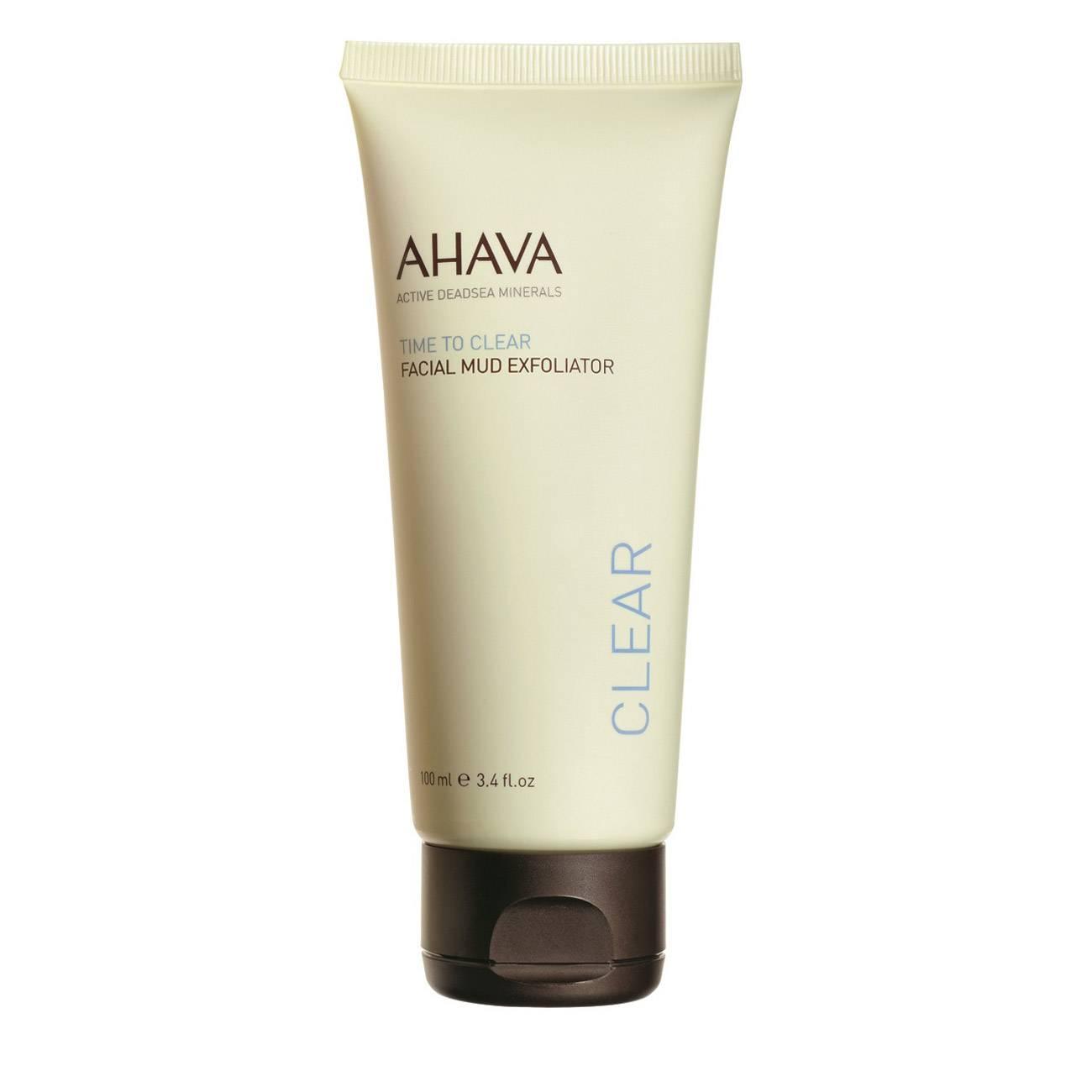 Time To Clear Facial Mud Exfoliator 100 Ml Ahava imagine 2021 bestvalue.eu
