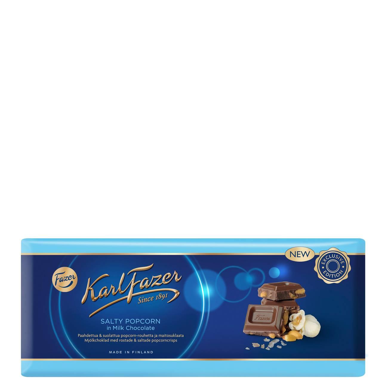 SALTY POPCORN IN MILK CHOCOLATE 250 Grame