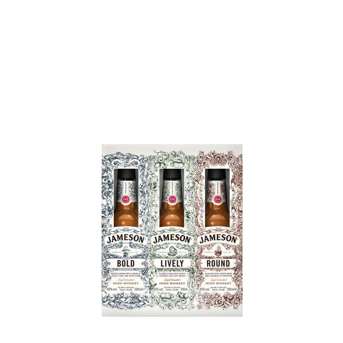 Whisky irlandez, TRIPLE PACK 3 X 0.2L 600ml, Jameson