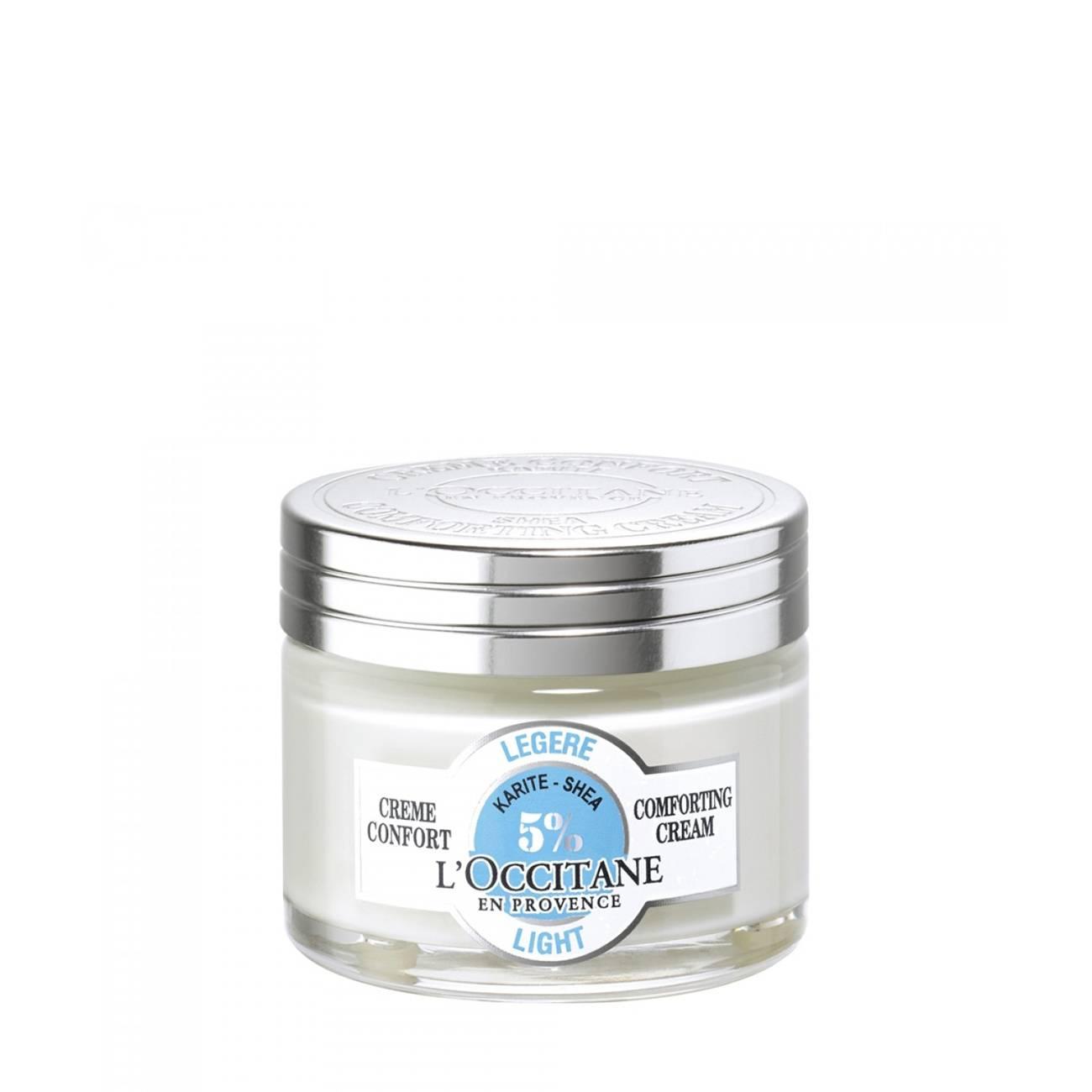 Karite-Shea Butter Light Comforting Cream 50ml L'occitane imagine 2021 bestvalue.eu