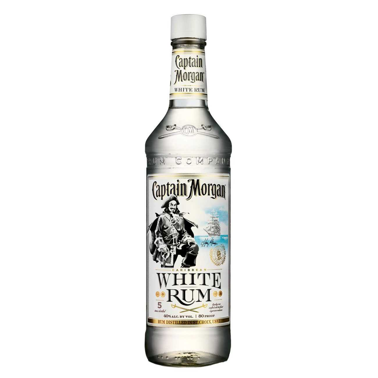 Rom, WHITE 1000 ML, Captain Morgan