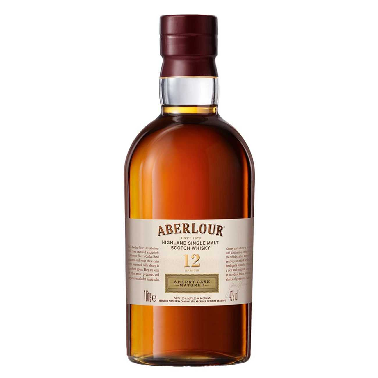 Whisky scotian, SHERRY CASK 12 YEARS 1000 ML, Aberlour