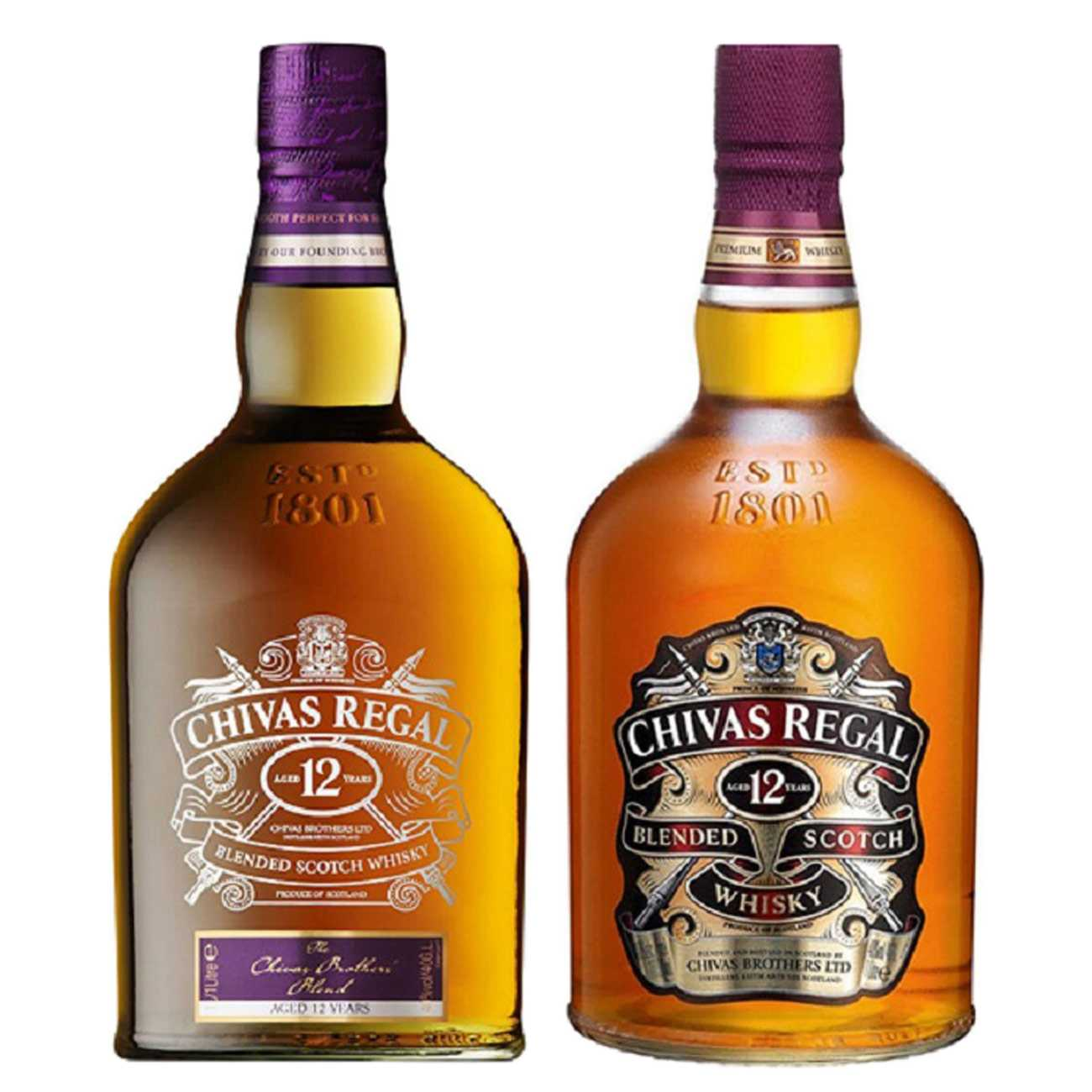 CHIVAS REGAL 12YO AND CHIVAS BROTHERS BLEND 2000 ML