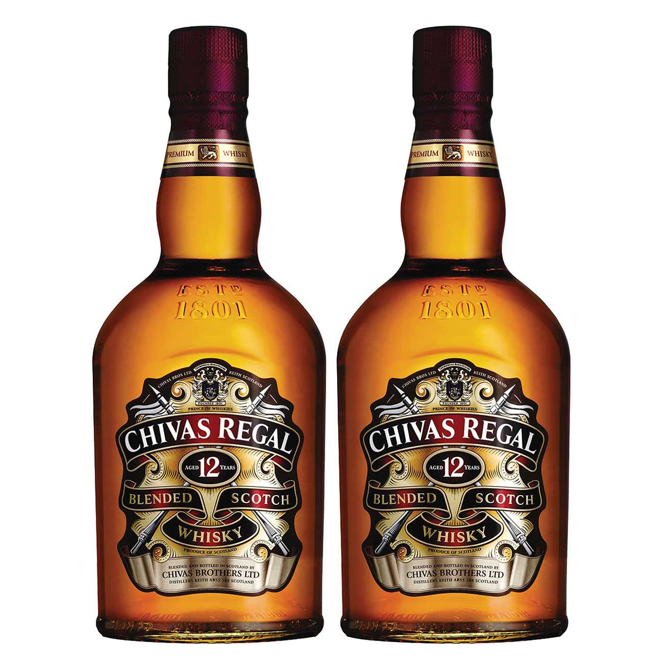 Whisky scotian, 12 YEAR OLD 2000 ML, Chivas Regal