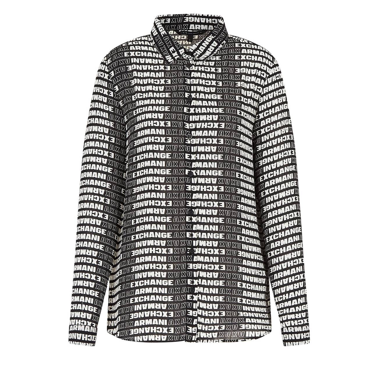 Shirt With All Over Logo M