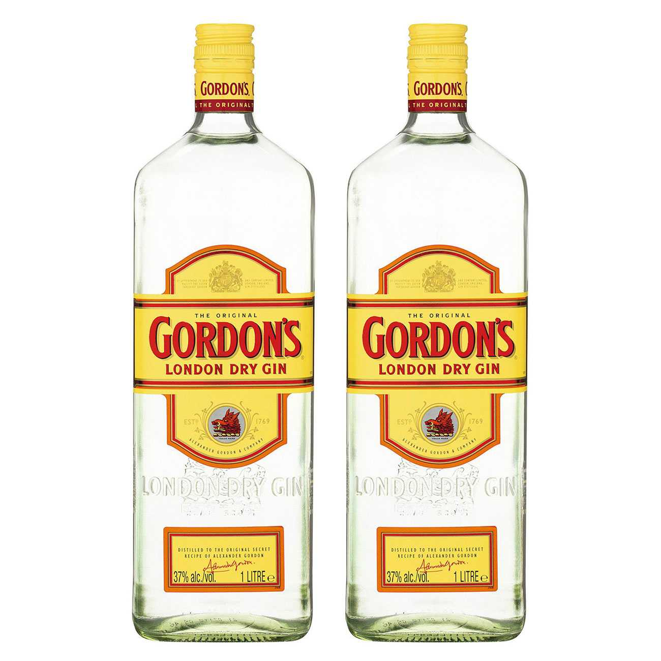 Gin, LONDON DRY GIN 2000 ML, Gordon's