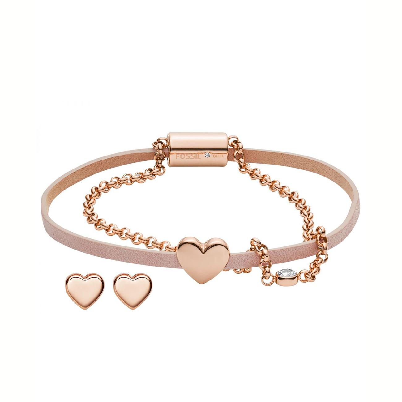 JF03051791 Gift Set Ladies' Bracelet and Stud Earrings Heart imagine produs