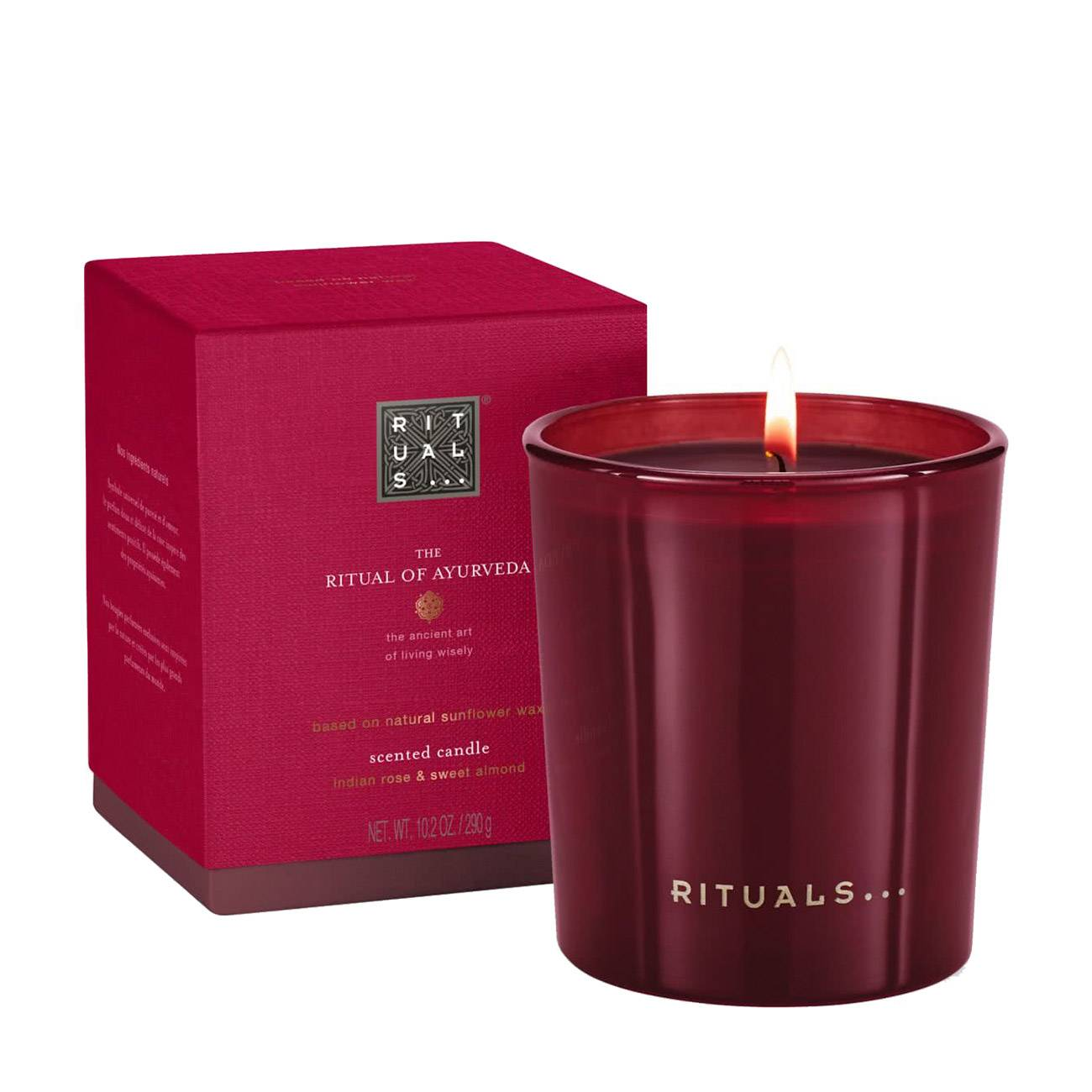 The Ritual Of Ayurveda Scented Candle 290 Grame Rituals imagine 2021 bestvalue.eu