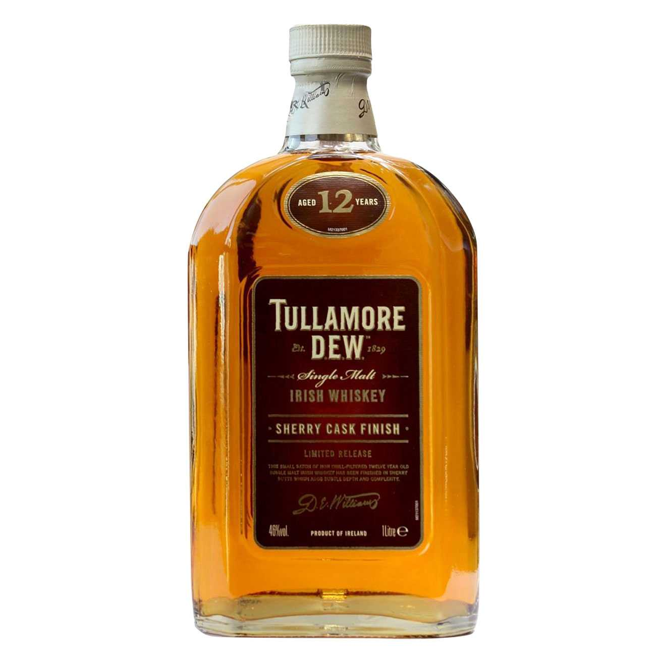 Whisky irlandez, 12 YEAR OLD SHERRY CASK FINISH 1000 ML, Tullamore Dew