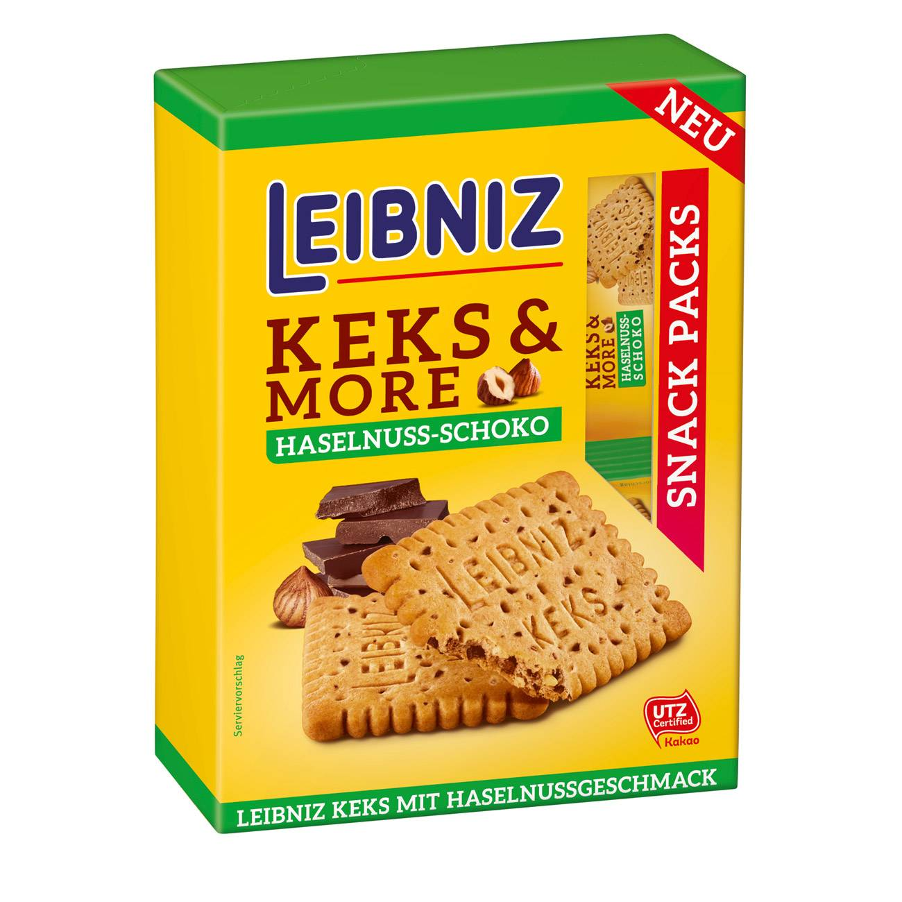LEIBNIZ BISCUITS HAZELNUT-CHOCOLATE 155 Grame