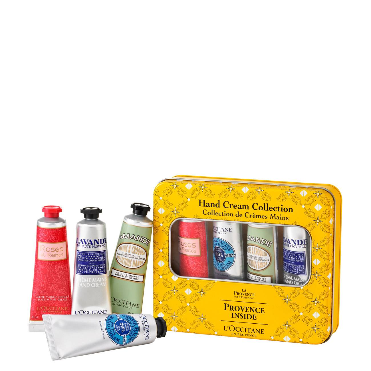 Provencal Yellow Box Xmas Set 120 G L'occitane imagine 2021 bestvalue.eu