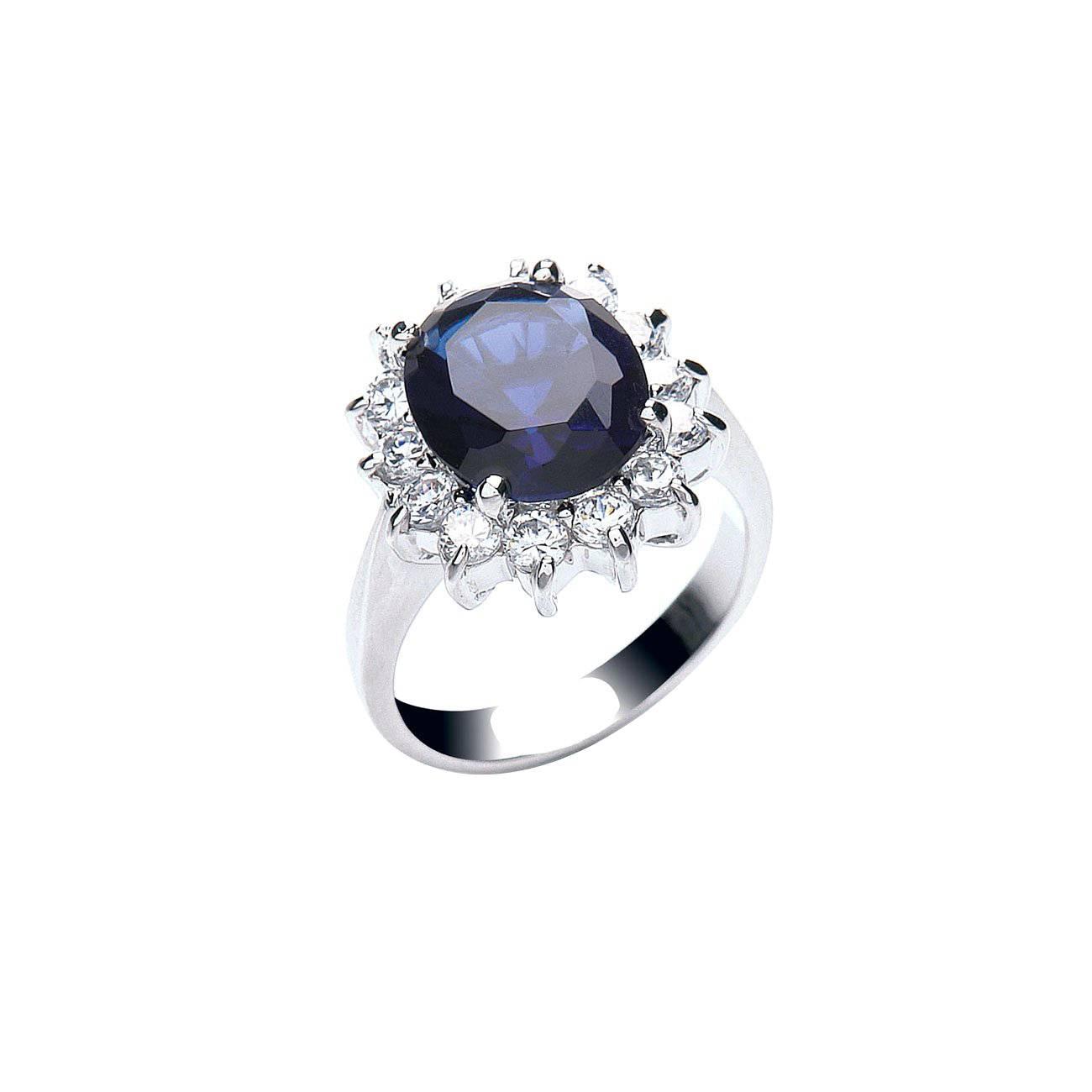 Catherine Royal Blue Ring CZR436M imagine produs