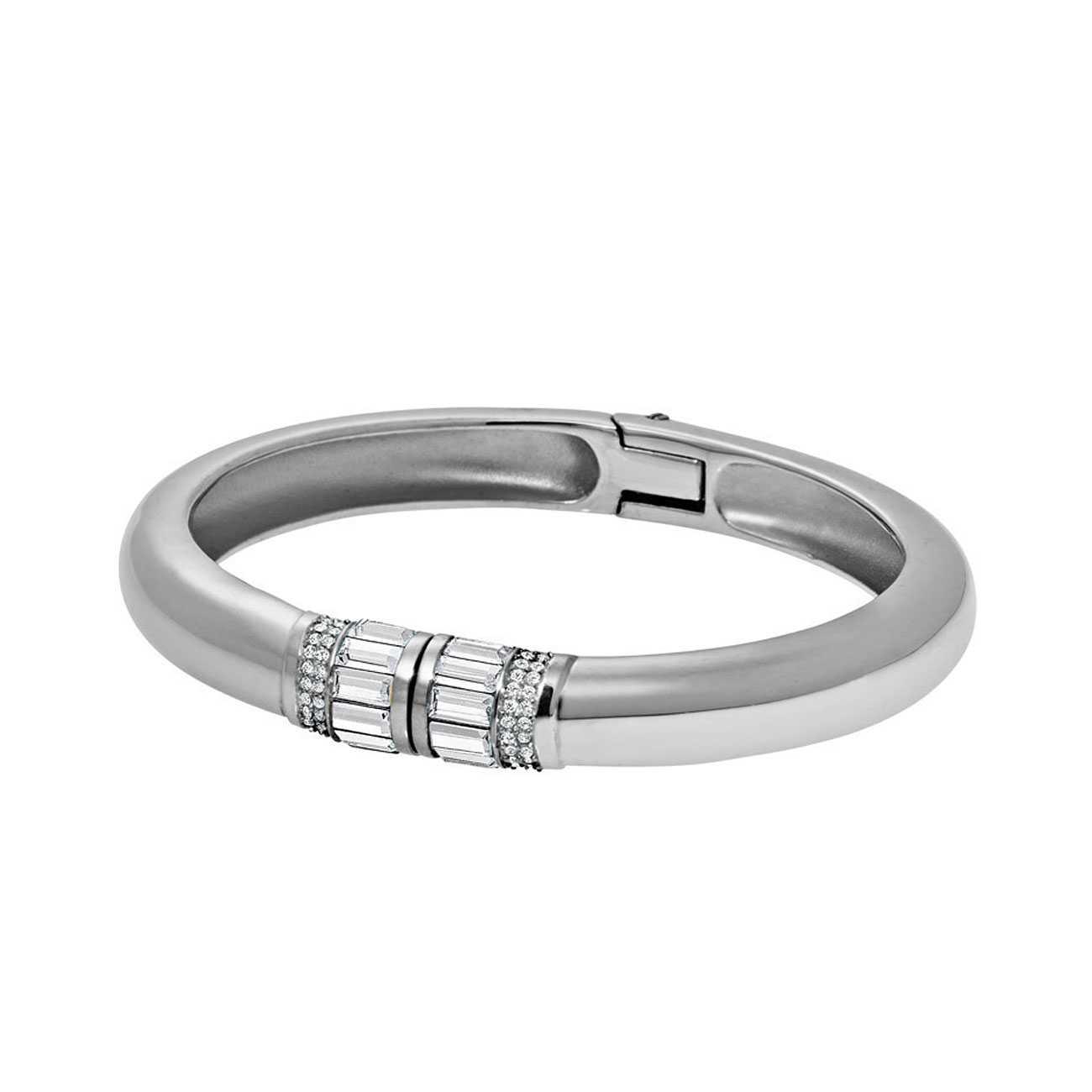 Baguette Silver-Tone Bracelet