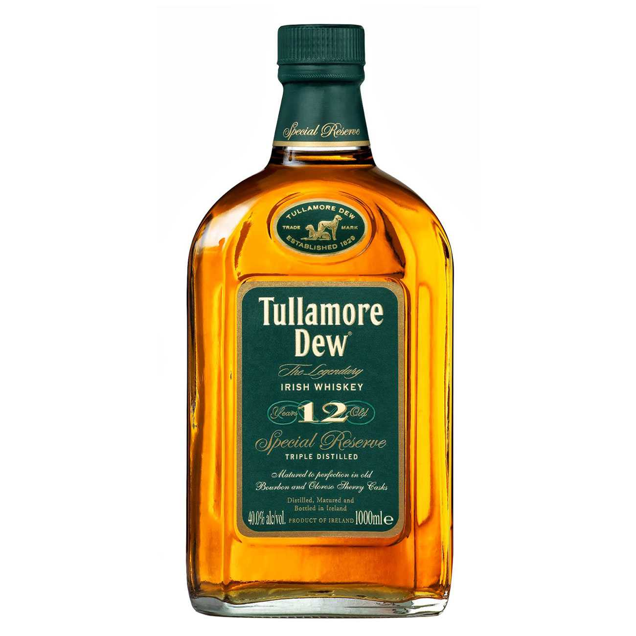 Whisky irlandez, 12 YEAR OLD 1000 ML, Tullamore Dew