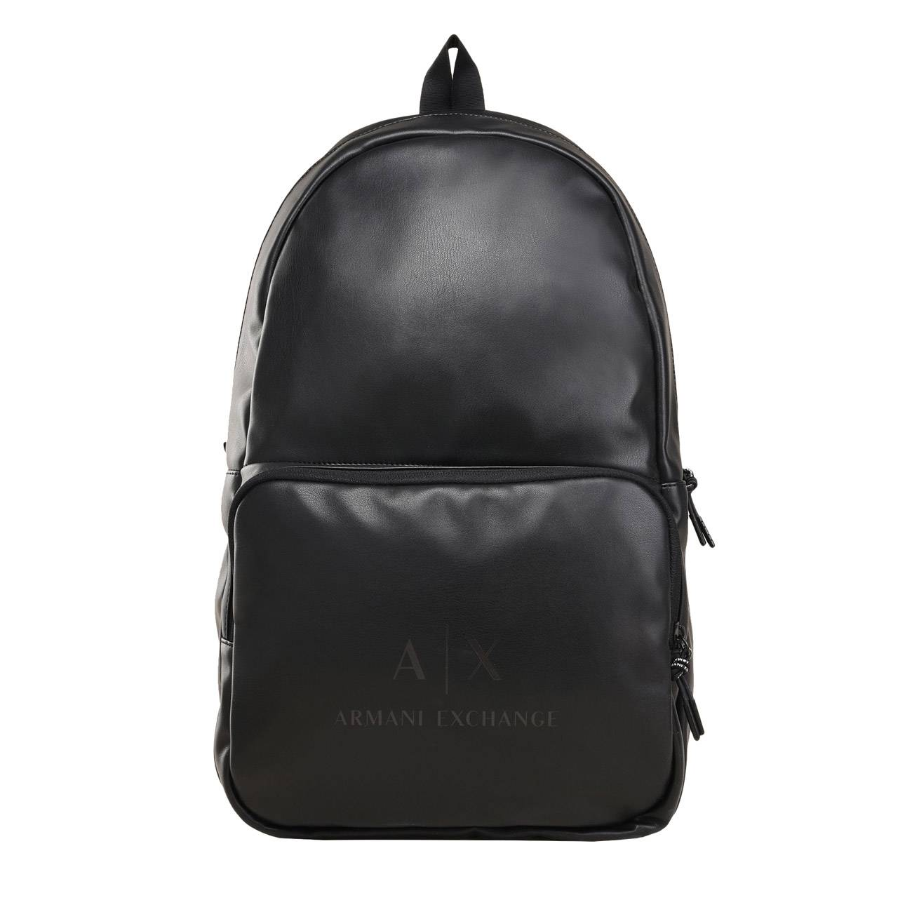 FAUX-LEATHER LOGO BACKPACK