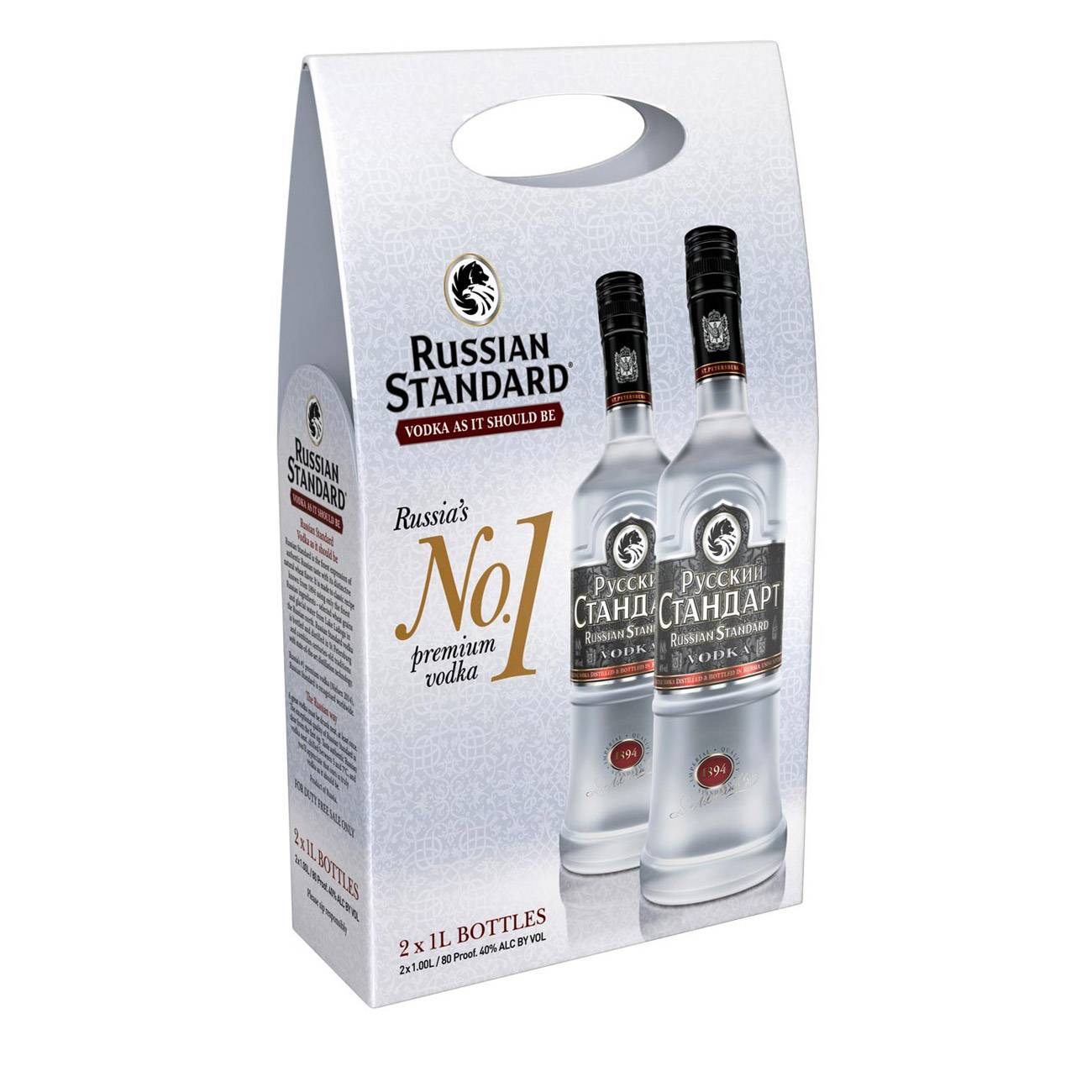 Vodka, Vodka 2X1L 2000 Ml, Russky Standard