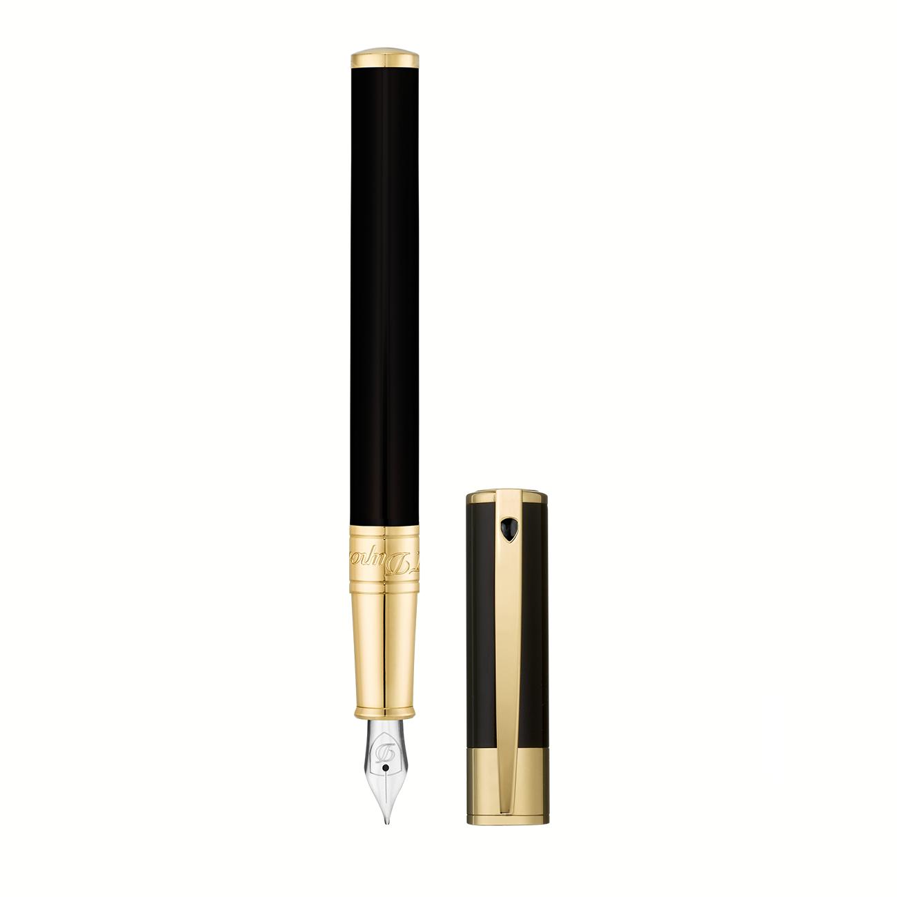 260205 FOUNTAIN PEN D-INITIAL BLACK-OR imagine produs