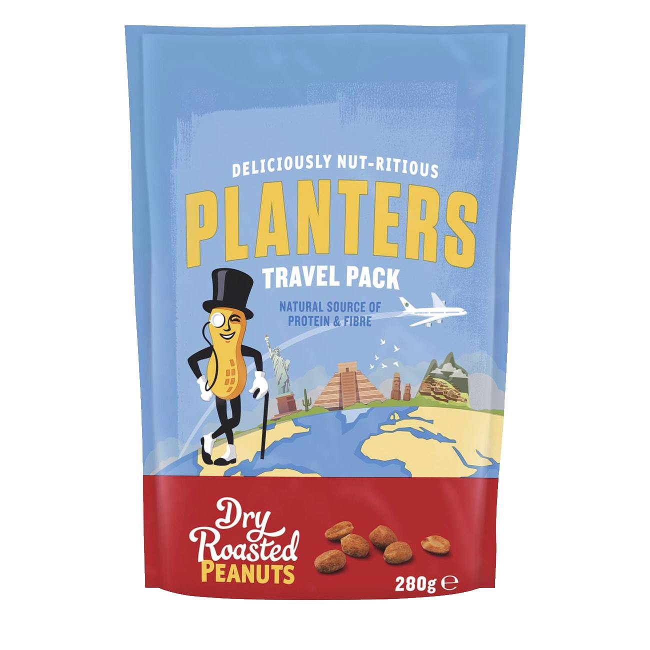 DRY ROASTED PEANUTS TRAVEL PACK 280 Grame