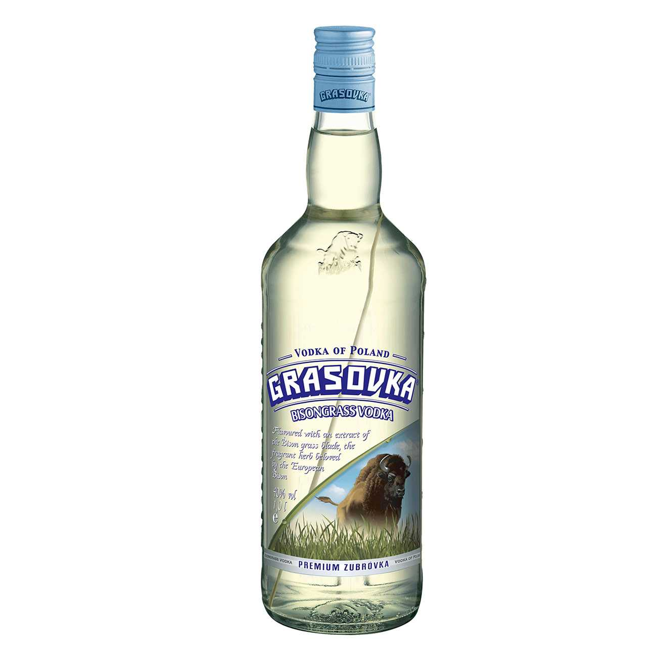 Vodka, BISONGRASS 1000 ML, Grasovka