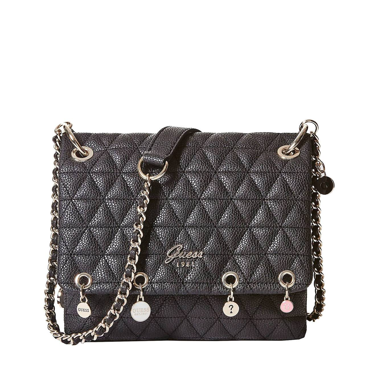 QUILTED-LOOK CROSSBODY BAG