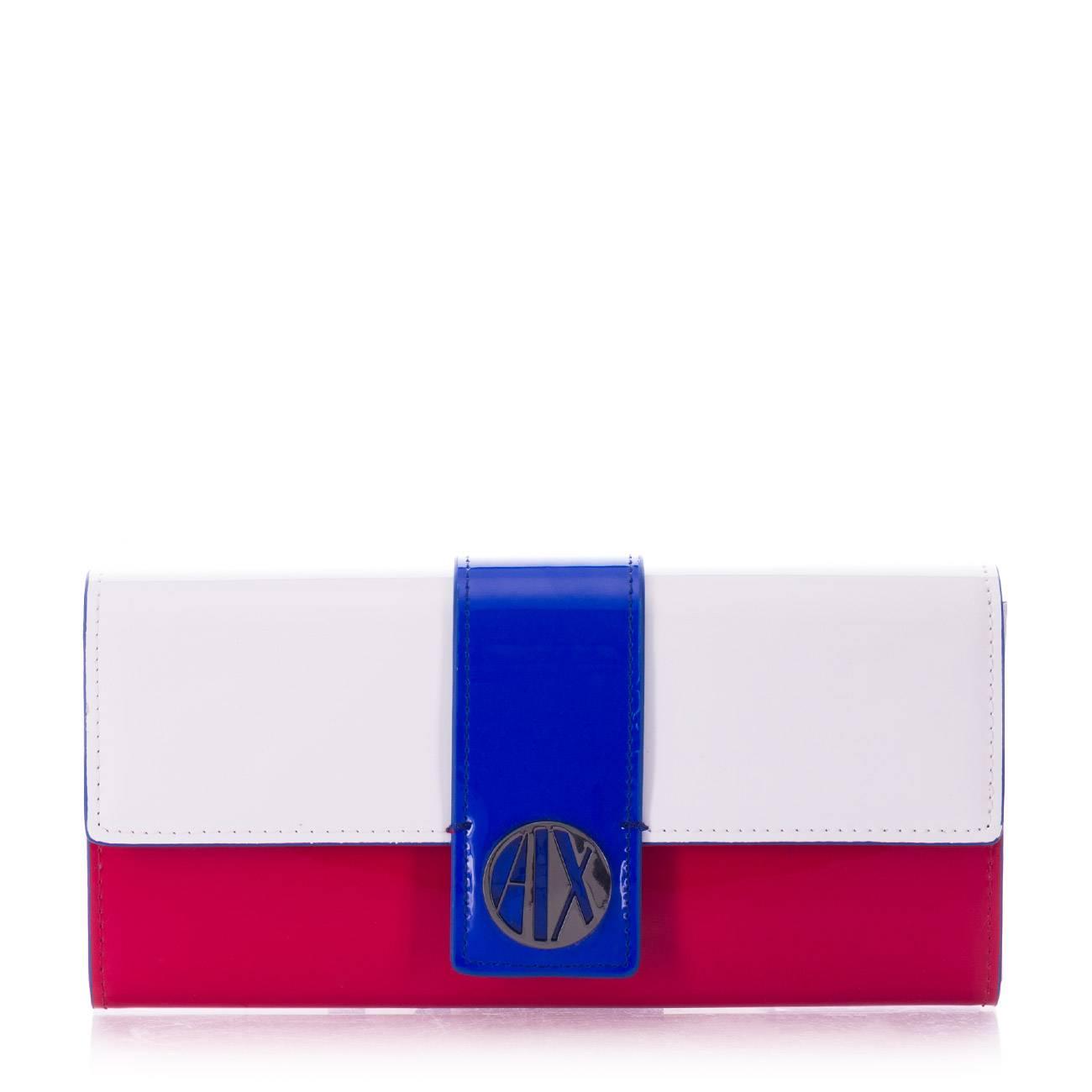 RED WHITE VICTORIA BLUE WALLET