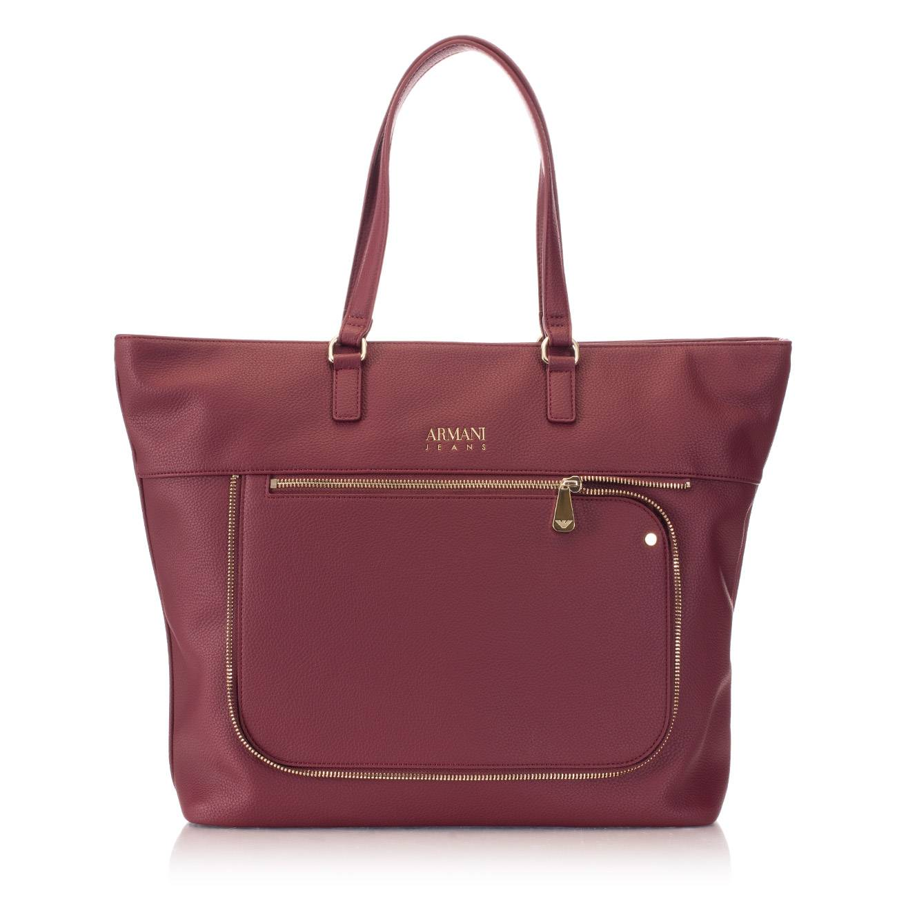 BURGUNDY SHOPPER