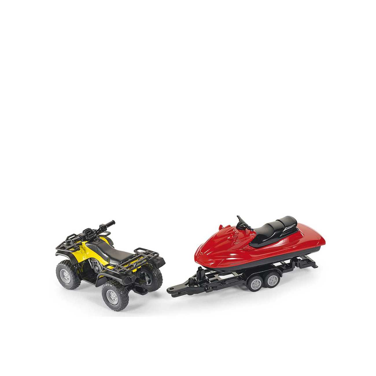 QUAD WITH TRAILER AND SNOW MOBILE