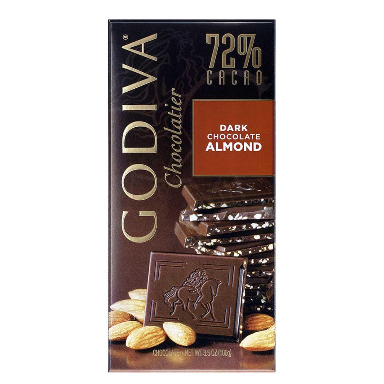 DARK CHOCOLATE ALMONDS 100 G