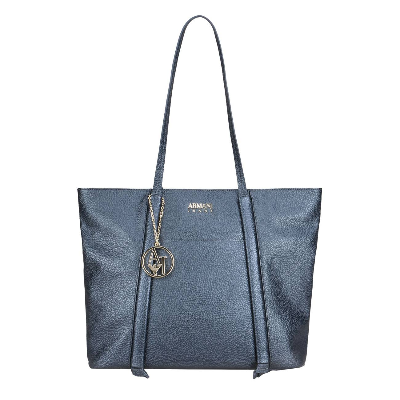 NAVY BLUE SHOPPER BAG