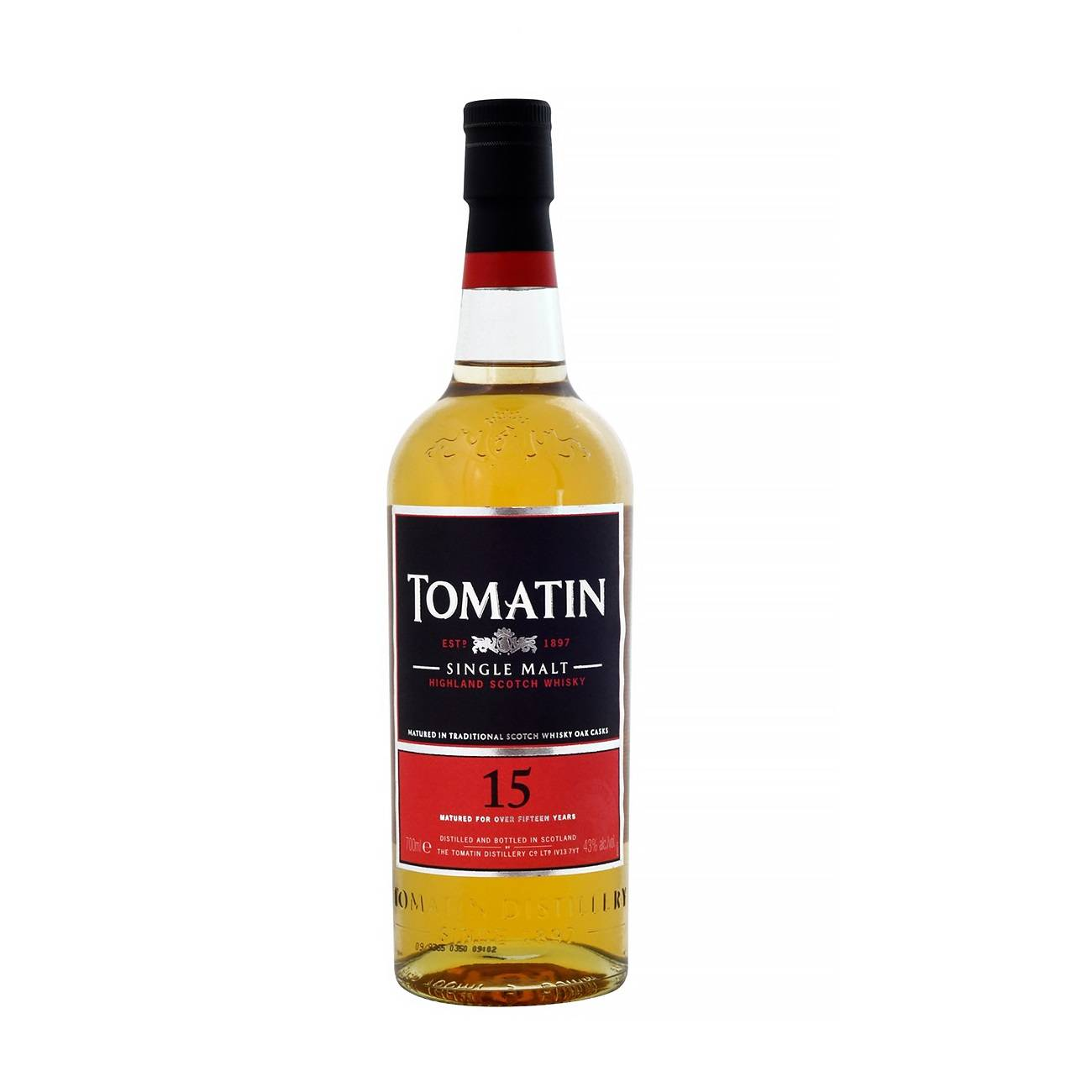 Whisky scotian, 15Y 700ml, Tomatin