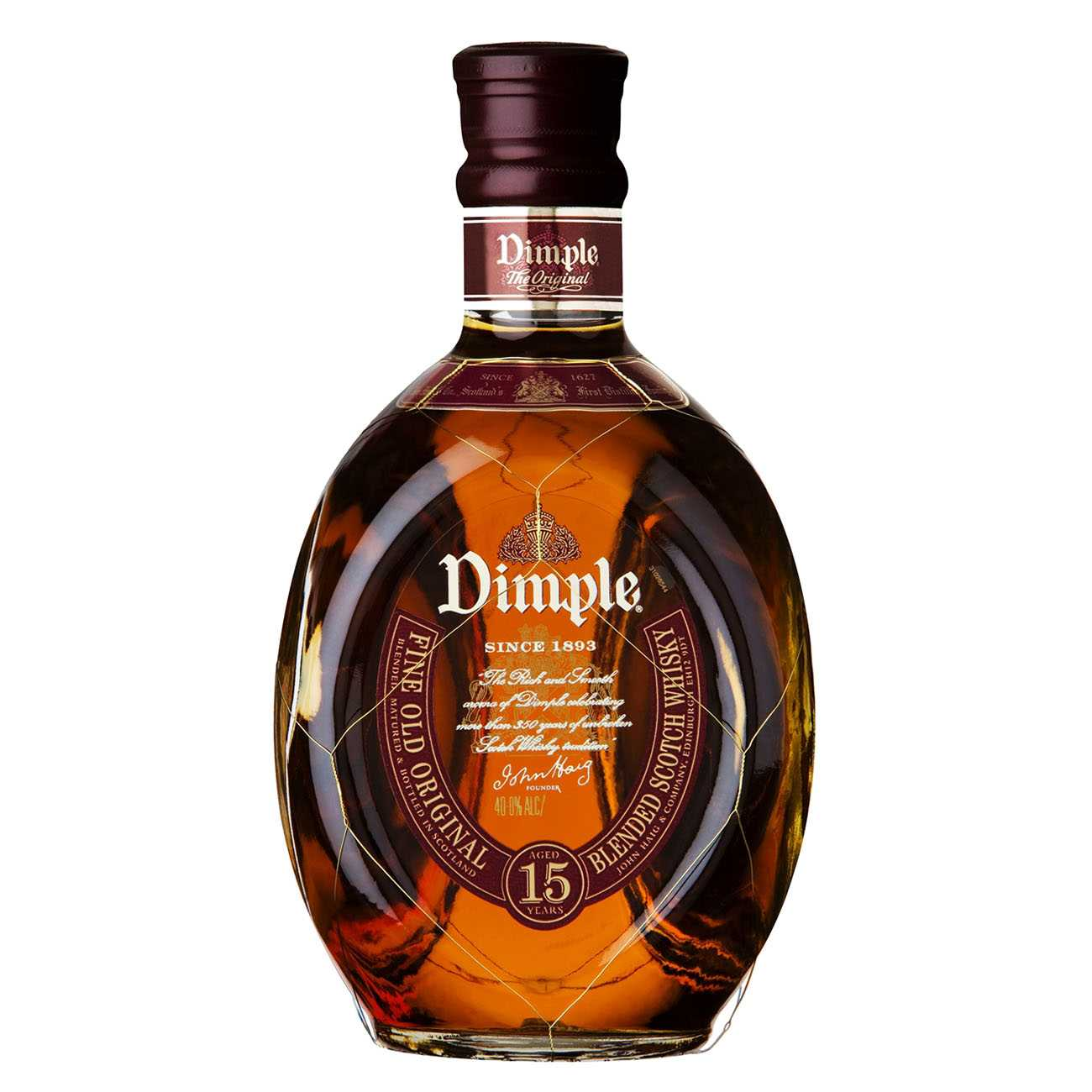 Whisky scotian, 15 YEAR OLD 1000 ML, Dimple