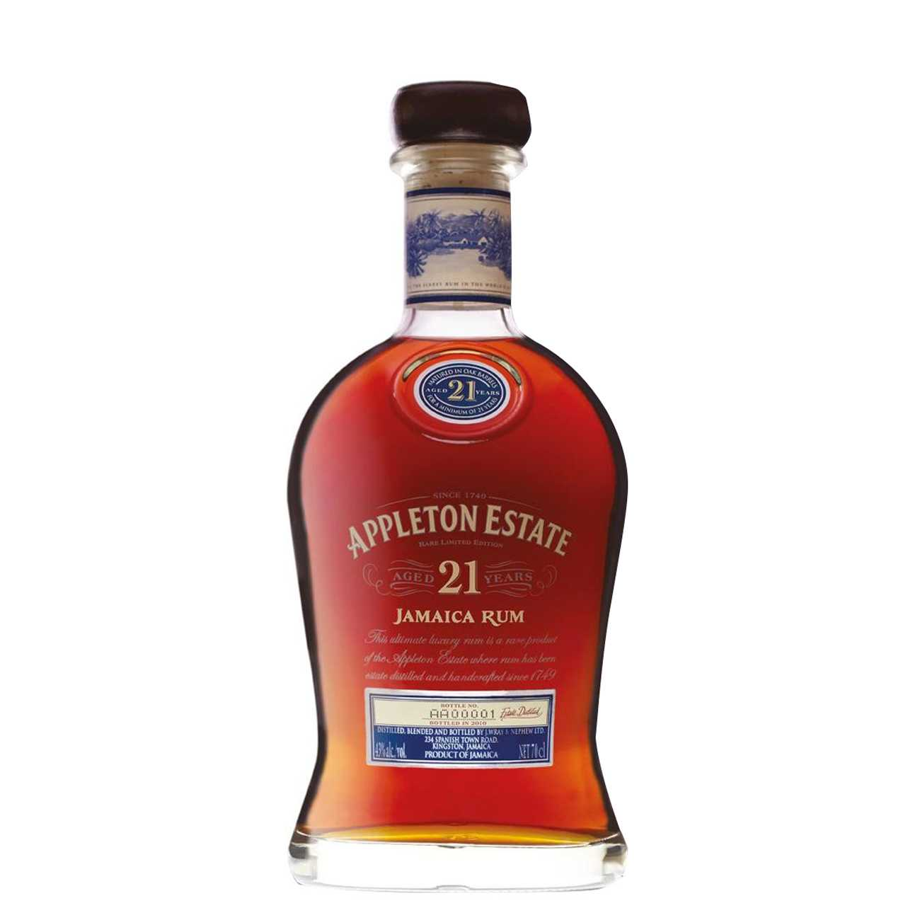 Rom, 21 YEAR OLD 700 ML, Appleton Estate