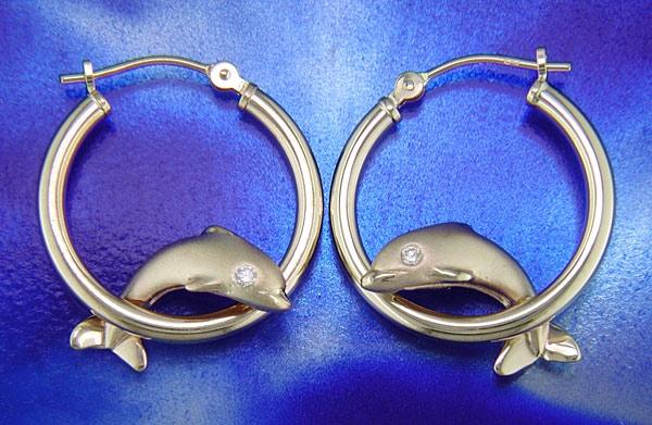Steven Douglas Dolphin Hoop Earrings Fe051