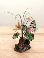 Bovano - FM10 - Butterfly and Flowers Tabletop Sculpture