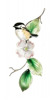 Bovano - W4190 - Chickadee on Dogwood Branch