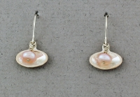 Betsy Frost - Pink Pearl in Clam Shell Earrings - E282