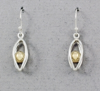 Betsy Frost - Caged Ball Earrings - E284GFB
