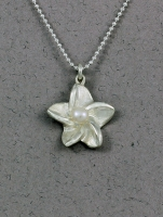 Betsy Frost - Plumeria Pearl Necklace - PFLS