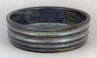 Dirty Dog Pottery: Brie Baker Blue Ribbed